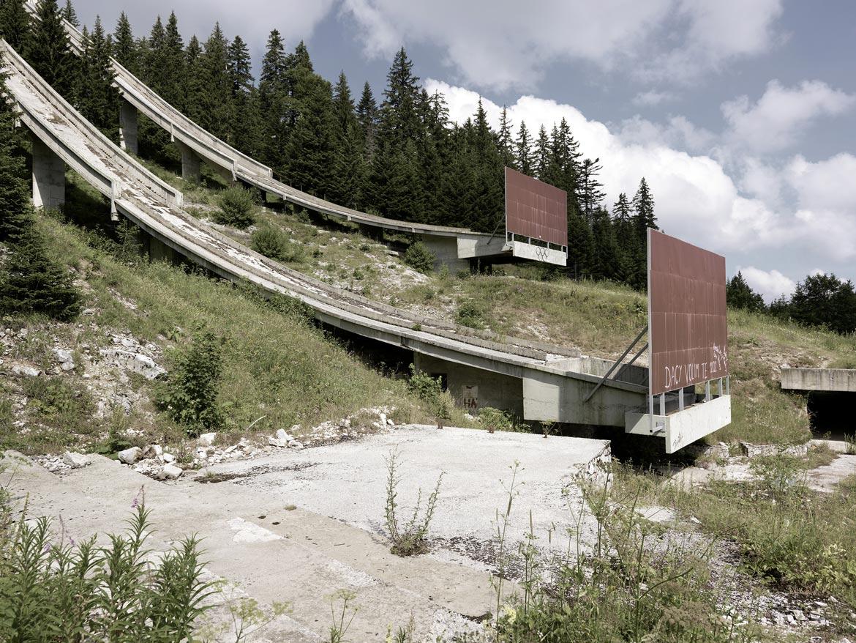 08_SARAJEVO Skisprung Anlage / SARAJEVO olympic jumps